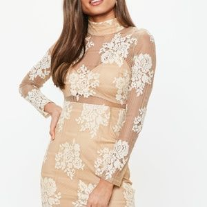 Missguided Womens Floral Lace Bodycon Dress